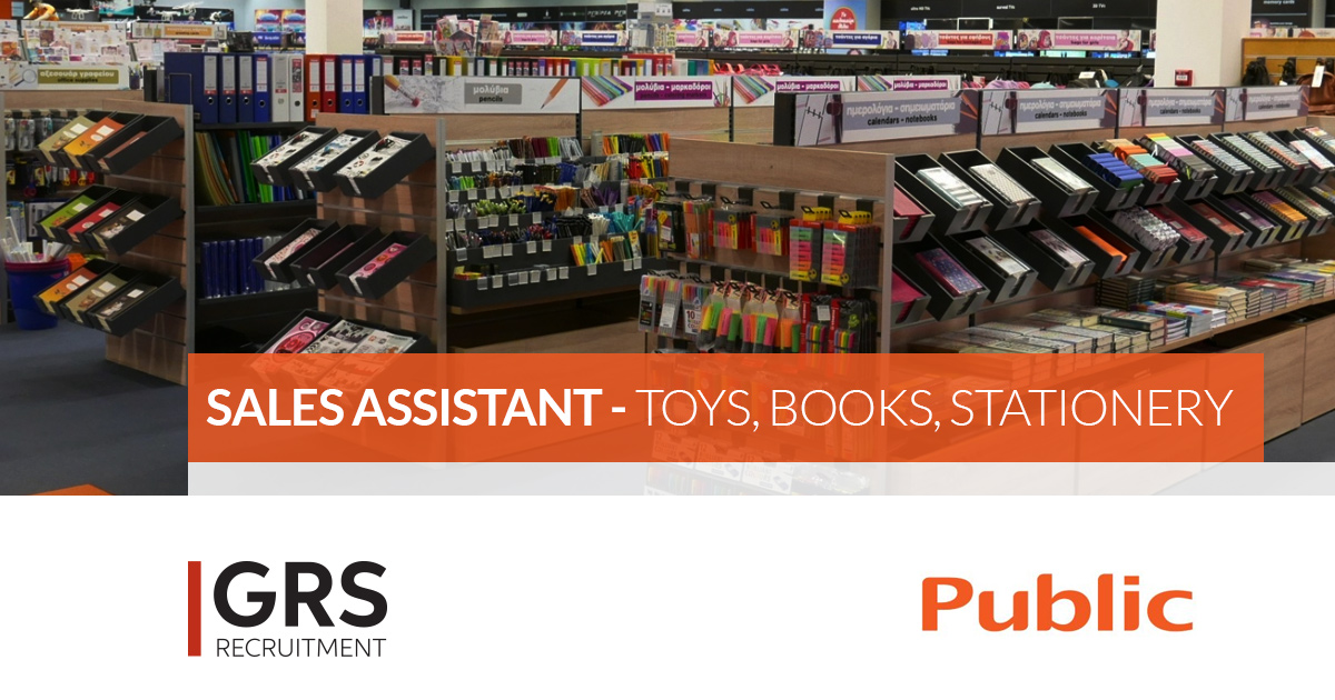 Sales Assistant - Culture - Toys, Books, Stationery